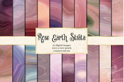 Rose Earth Strata Agate Geode Textures