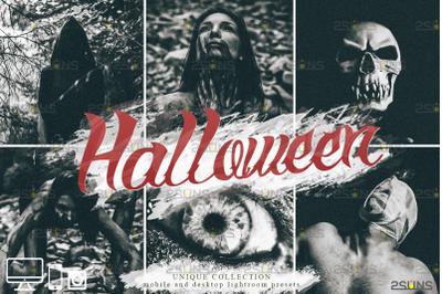 Halloween presets: Black&White Lightroom presets mobile and desktop