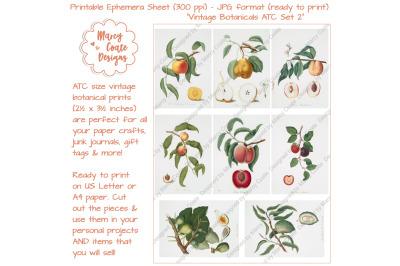 Botanical ATC Card Printables Set 2