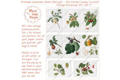 Botanical ATC Card Printables Set 4