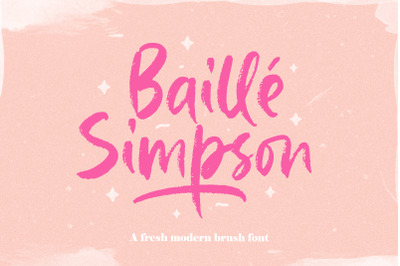 Baille Simpson - Modern Brush Script