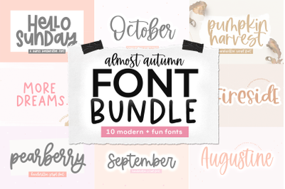 Handwritten Font Bundle - Almost Autumn
