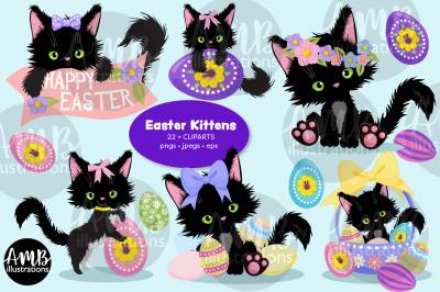 Easter Cats Clipart AMB-2752