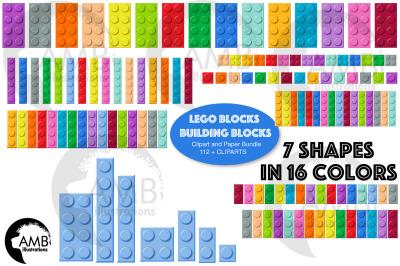 Lego Blocks Clipart AMB-2775
