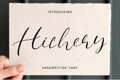 Hichery Handwritten font
