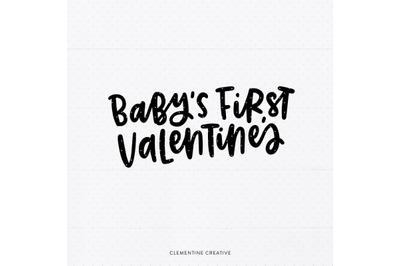 Baby's First Valentine's SVG Cut File   Valentine's Day SVG   Cricut C