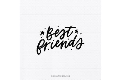 Best Friends SVG   Best Friends Cut File {SVG, Dxf, Eps, Png}   BFF Cu