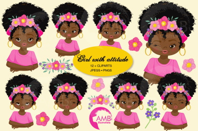 Girls with Attitude Clipart AMB-2784