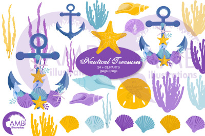 Nautical Treasures Clipart AMB-2791