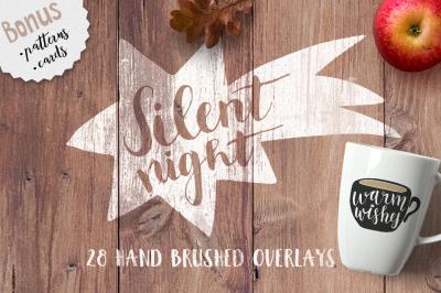 Silent Night Christmas photo overlays
