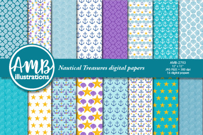Nautical Treasures Papers AMB-2792