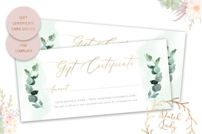 Gift Certificate Card Template #2