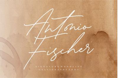 Antonio Fischer Signature Monoline Calligraphy Font