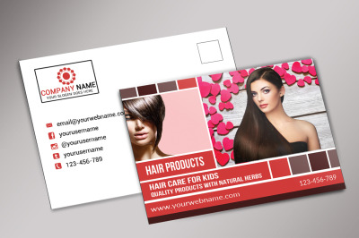 Hair Product Postcard