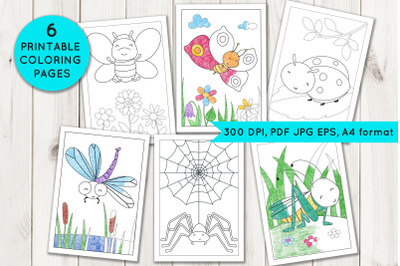 Coloring Pages with insects