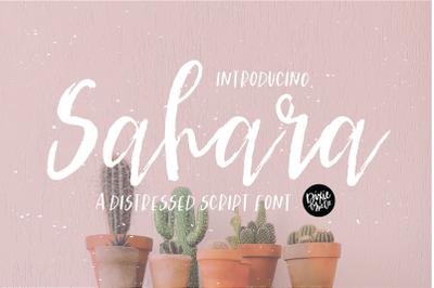 SAHARA a Distressed Script Font