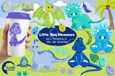 Baby Boy Dinosaurs Clipart AMB-2797