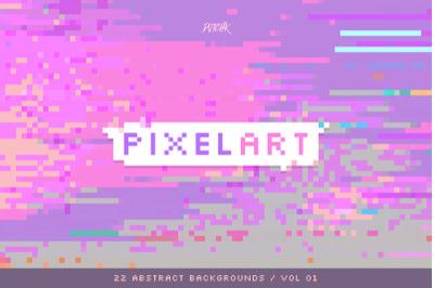Pixel Art | Colorful Backgrounds | V. 01