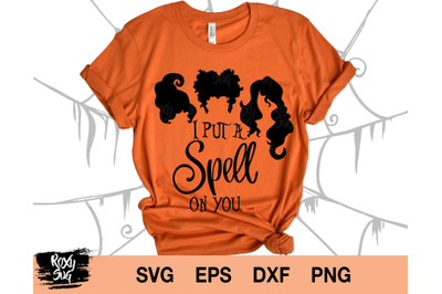 I put a spell on you svg,