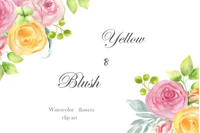 Yellow and Blush