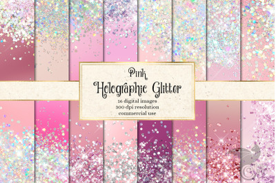 Pink Holographic Glitter Textures