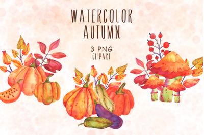Autumn watercolor PNG Clipart