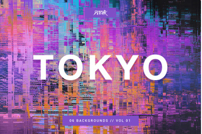 Tokyo | City Glitch Backgrounds | V 01