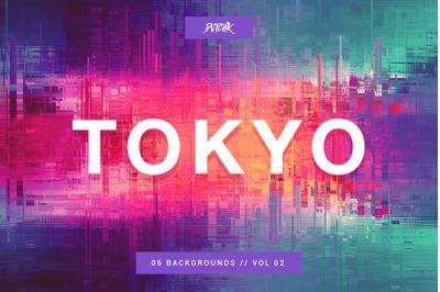 Tokyo | City Glitch Backgrounds | V 02