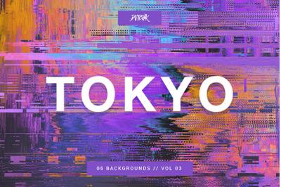 Tokyo | City Glitch Backgrounds | V 03