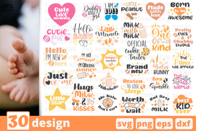 30 BABY, baby quotes cricut svg