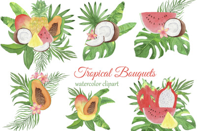 Tropical fruits bouquets