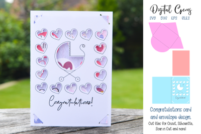 New baby, Baby shower card design