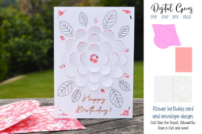 Birthday card and envelope design