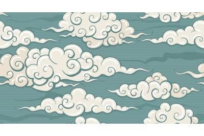 Eastern Seamless Cloud Pattern
