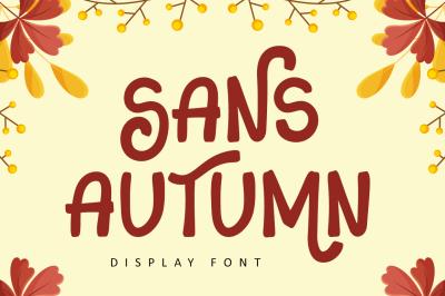 Sans Autumn - Display Font