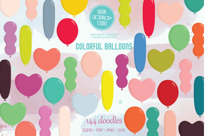 Colorful Balloons | Birthday Party Items  | Heart Shape
