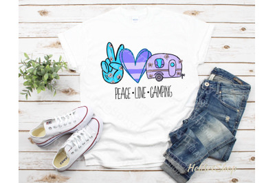Peace love Camping | Sublimation design |Camper png