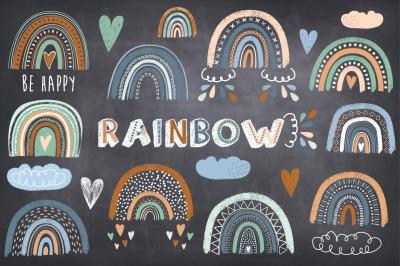 Cute Chalkboard Boho Rainbow