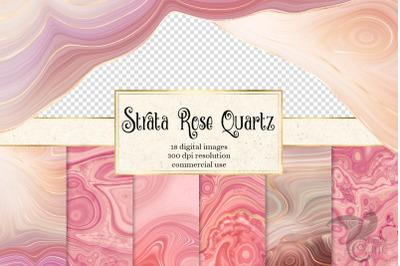 Strata Rose Quartz Textures