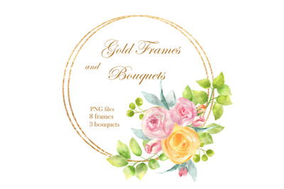 Gold Frames and Bouquets