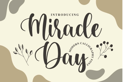 Miracle Day - Modern Calligraphy Font