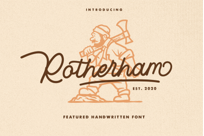 ROTHERHAM - Monoline Font