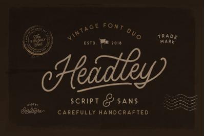 Headley - Vintage Font Duo (30% OFF)