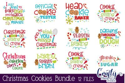 Christmas Baking Bundle Svg, Christmas Cookie Cut Files