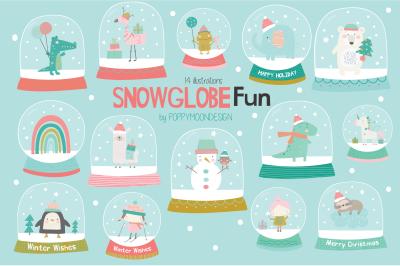 Snowglobe fun clipart