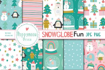 Snowglobe fun paper