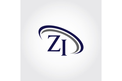 Monogram ZI Logo Design