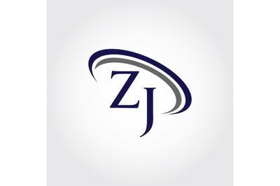 Monogram ZJ Logo Design