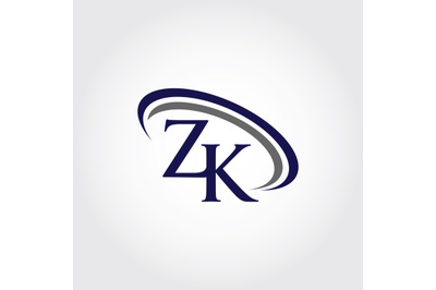 Monogram ZK Logo Design