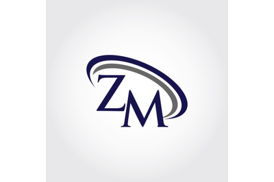 Monogram ZM Logo Design